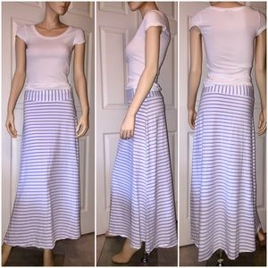 J CREW | Nautical Striped Periwinkle Maxi Skirt